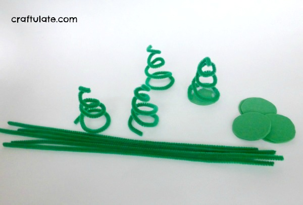 pipe cleaner christmas trees - Pipe Cleaner Christmas Tree