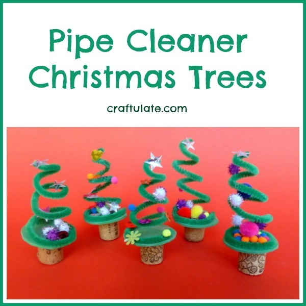 Pipe Cleaner Christmas Trees for kids to make