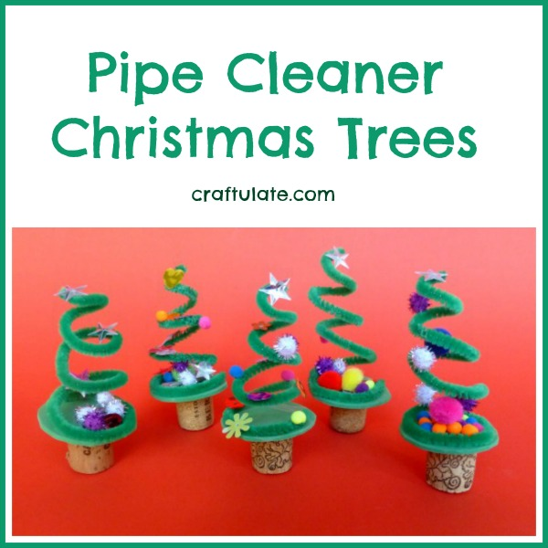 pipe cleaner christmas trees craftulate