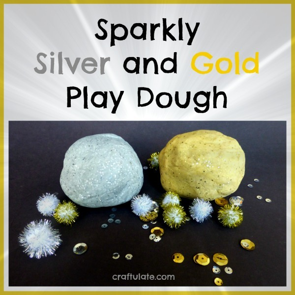 Sparkly Silver and Gold Play Dough