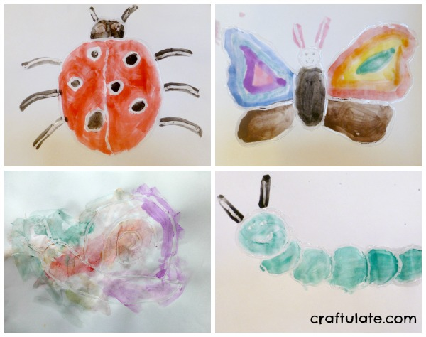 Watercolour and Glue Resist Art for kids to make