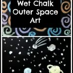 Wet Chalk Outer Space Art