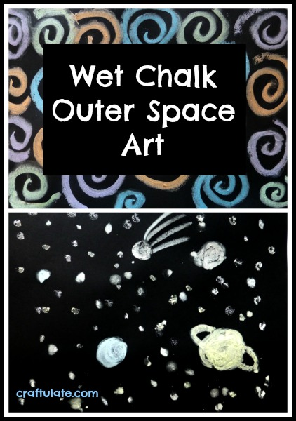 Wet Chalk Outer Space Art by Craftulate