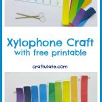 Xylophone Craft with free printable