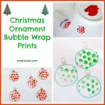 Christmas Ornament Bubble Wrap Prints