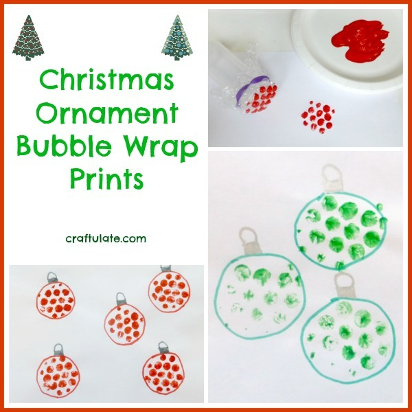 Christmas Ornament Bubble Wrap Prints by Craftulate