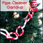 Candy Cane Pipe Cleaner Garland