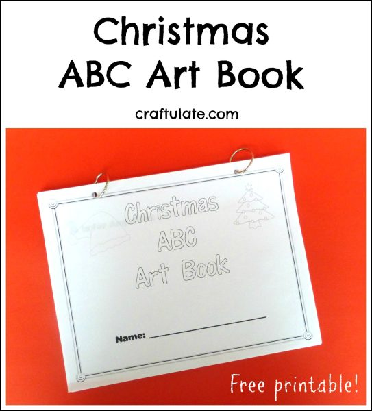 Christmas ABC Art Book - a festive art activity for every letter of the alphabet!