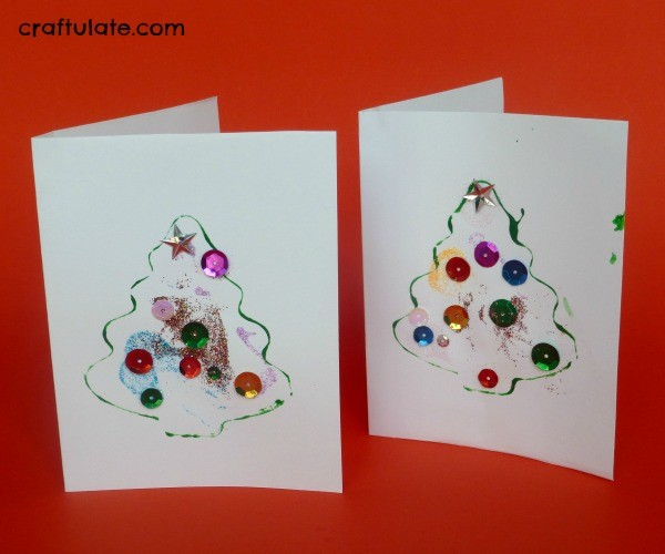 Kid-Made Christmas Thank You Cards from Craftulate