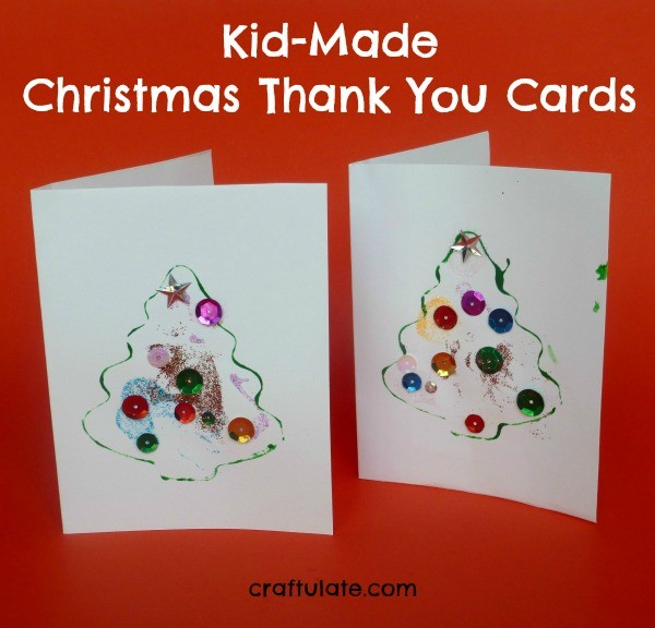 KidMade Christmas Thank You Cards  Craftulate