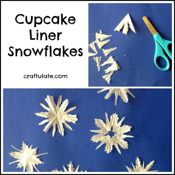 Cupcake Liner Snowflakes - a winter craft for kids to make