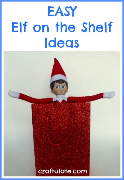 Easy Elf on the Shelf Ideas - no need to add extra stress to this fun tradition!