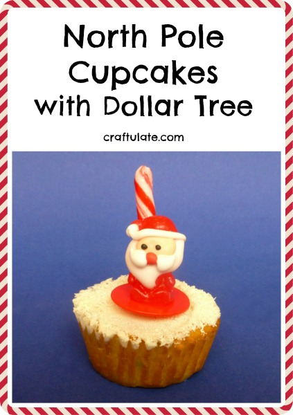 North Pole Cupcakes with Dollar Tree from Craftulate