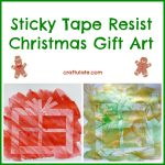 Sticky Tape Resist Christmas Gift Art