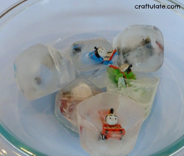 Trains In Ice - a winter science activity