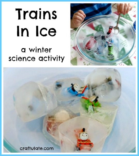Trains In Ice - a winter science activity from Craftulate