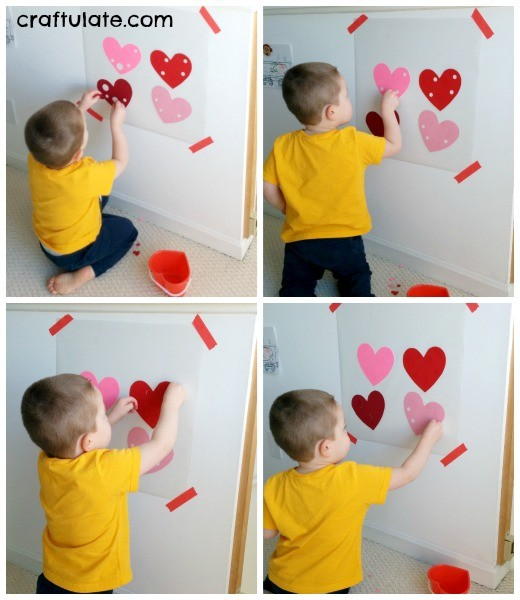 Size and Colour Valentine Match Activity