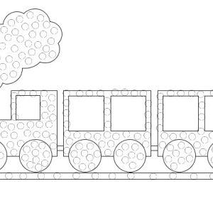 QTip Train Printable