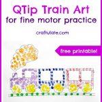 QTip Train Art
