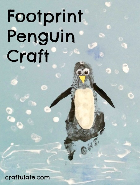 Footprint Penguin Craft by Craftulate