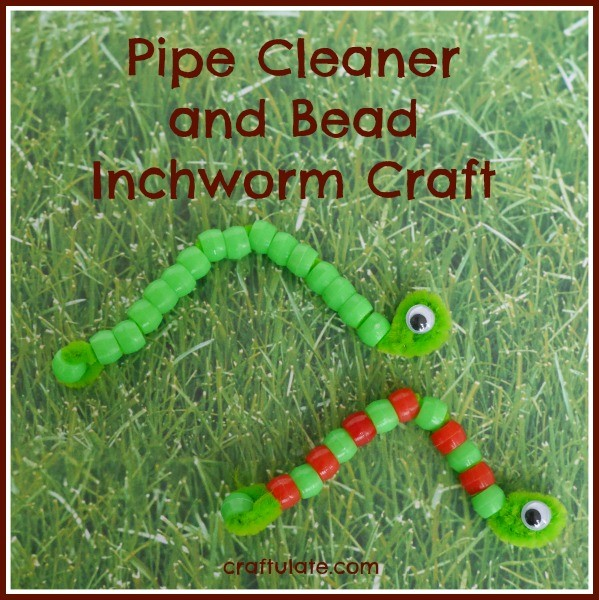 Pipe Cleaner and Bead Inchworm Craft from Craftulate