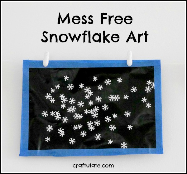 Mess Free Snowflake Art from Craftulate