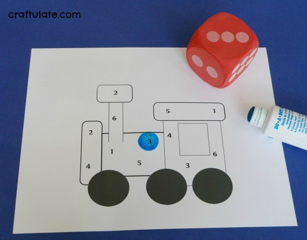 Roll and Cover Train Dice Game