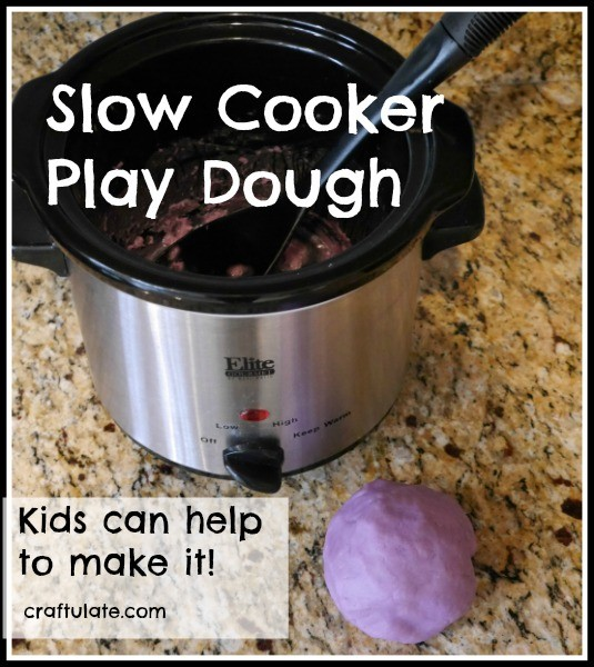 Slow Cooker Play Dough by Craftulate