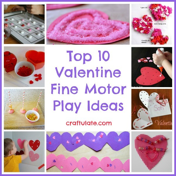 Top 10 Valentine Fine Motor Play Ideas from Craftulate