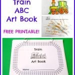 Train ABC Art Book