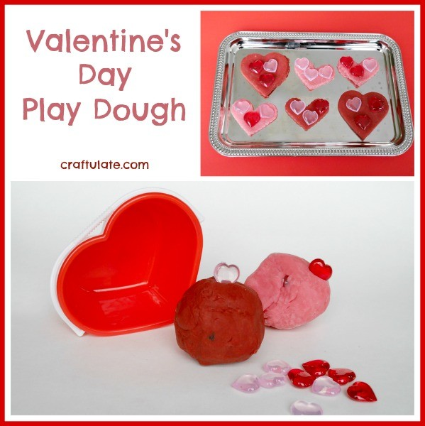 Valentine's Day Play Dough from Craftulate