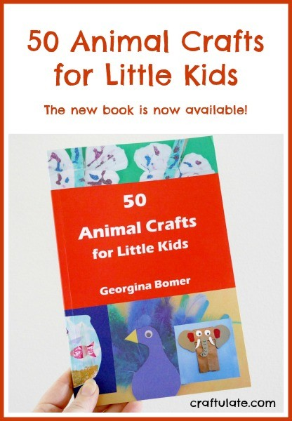 50 Animal Crafts for Little Kids - the new book from Craftulate