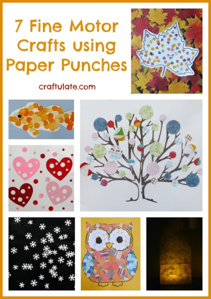 7 Fine Motor Crafts using Paper Punches from Craftulate