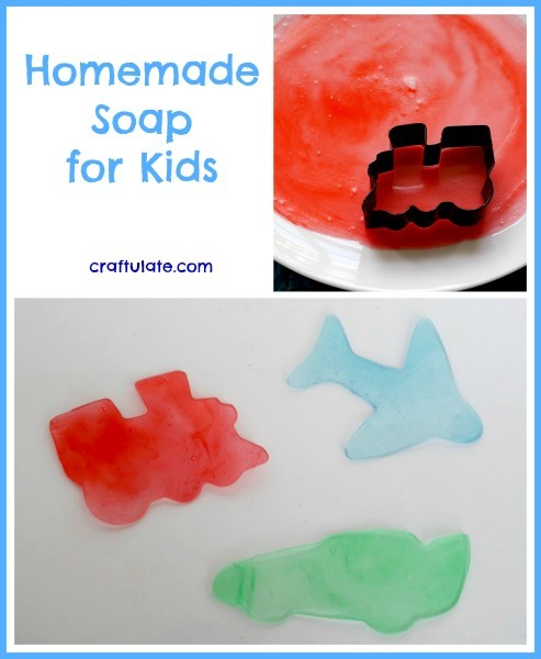 Homemade Soap for Kids from Craftulate