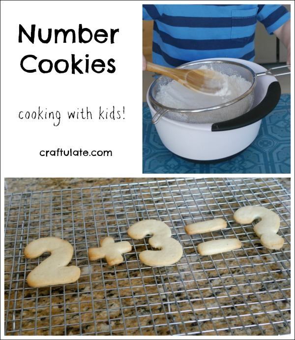 Number Cookies - cooking with kids AND working on math skills!