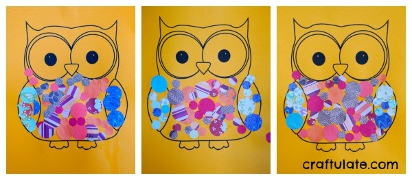 Owl Collage from Craftulate