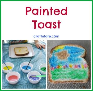 Rainbow Paint for Toast