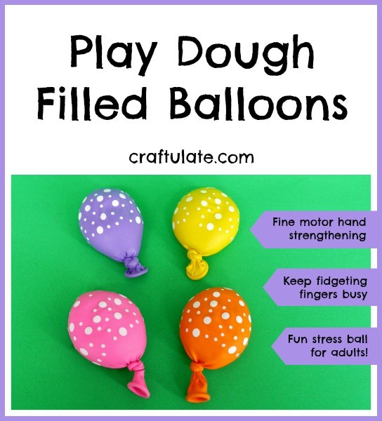 Play Dough Filled Balloons - Craftulate