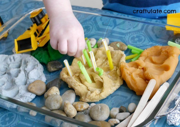 Play Dough Construction Site