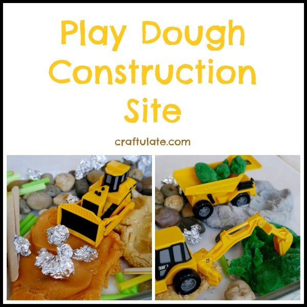 Play Dough Construction Site by Craftulate