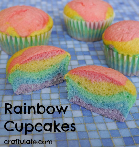 Rainbow Cupcakes from Craftulate