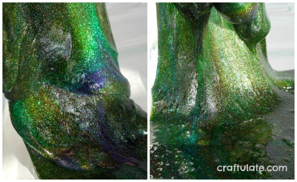 Sparkly Rainbow Slime by Craftulate