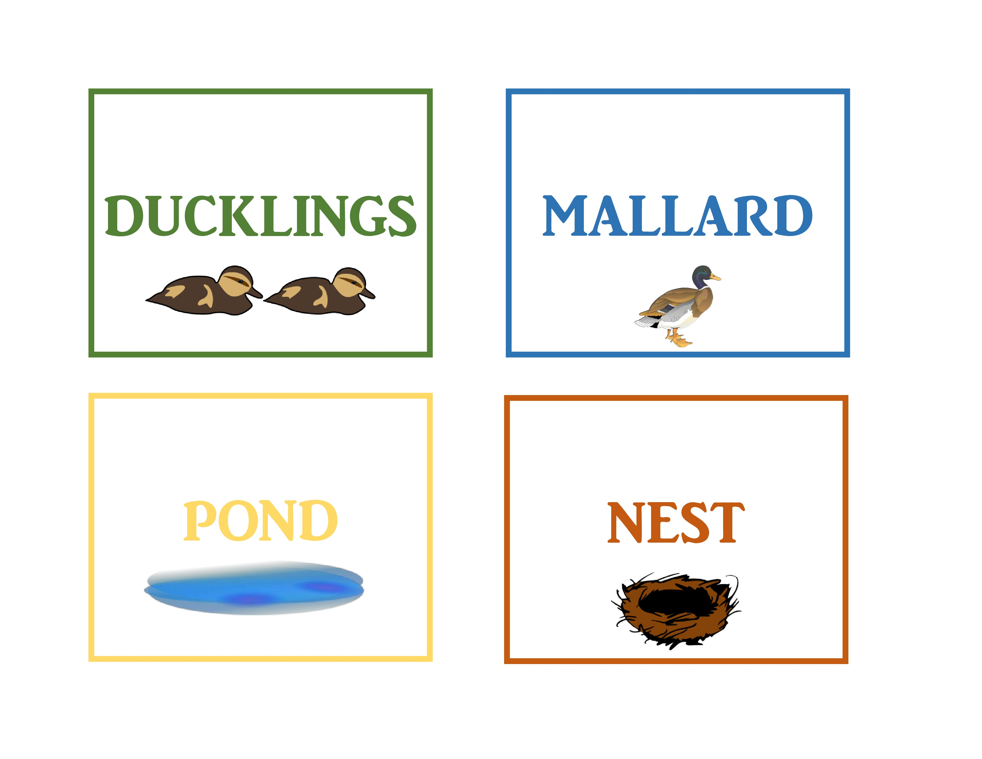 Make Way For Ducklings Word Cards Craftulate
