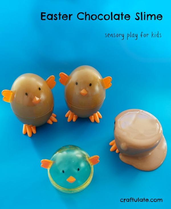 Easter Chocolate Slime - sensory play recipe to make at home!