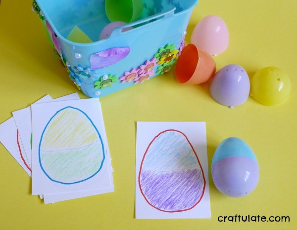 Easter Egg Match Game from Craftulate