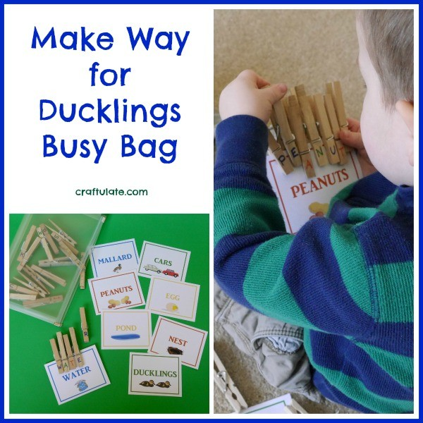 Make Way for Ducklings Busy Bag from Craftulate
