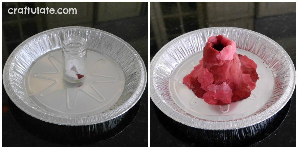 Classic Play Dough Volcano Activity from Craftulate