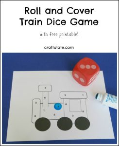 Roll Cover Train Dice Game