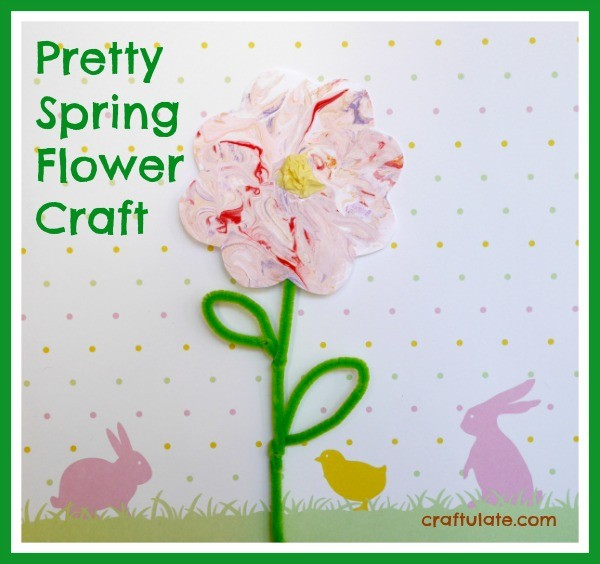 Pretty Spring Flower Craft by Craftulate