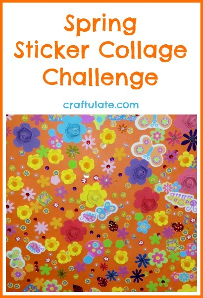 Spring Sticker Collage Challenge - great for groups!